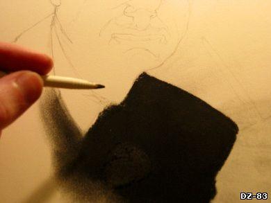 Рисуем углём