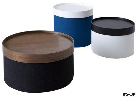 Пуф-трансформер Drums. Превращается в низкий столик благодаря съемной столешнице-подносу. Производитель Softline